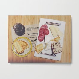 Cheese Plate Spread Metal Print