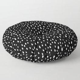 B&W Paint Drops Floor Pillow