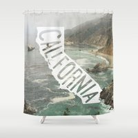 california Shower Curtains featuring California by cabin supply co