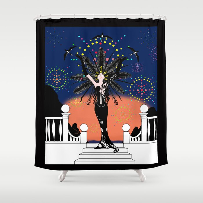La Grande Vie Mardi Gras Shower Curtain