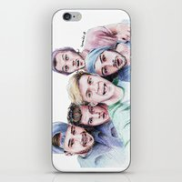 selfie iPhone & iPod Skins featuring Selfie by LePomiere