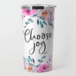 Choose Joy, Nursery Wall Art, Inspirational Quotes, Typography Print, Typography Wall Art Travel Mug