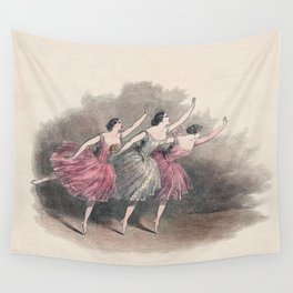 The Three Ballerinas Wall Tapestry