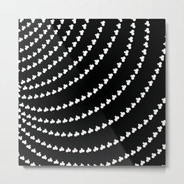 White Vortex Metal Print