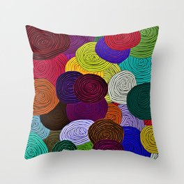 Colorful Circle Art Throw Pillow