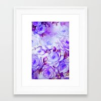 shabby chic Framed Art Prints featuring Shabby Chic Purple by Jacqueline Maldonado