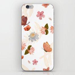 Butterfly & Flowers iPhone Skin