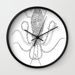 Spiral Squid Wall Clock