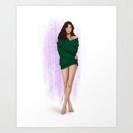 the green sweater part 2 Art Print