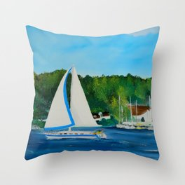 Come Sail Away Throw Pillow