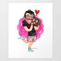 markiplier Art Prints featuring Markiplier Hug! by Super Group Hugs