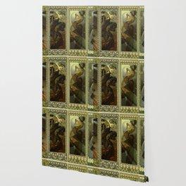 "Alphonse Mucha ""The Moon and the Stars Series"" Wallpaper"