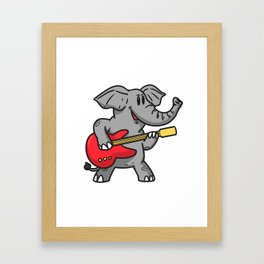 Guitar elephant Framed Art Print