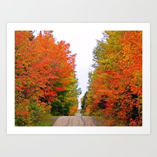 Rolling Through the Hills of Autumn Art Print