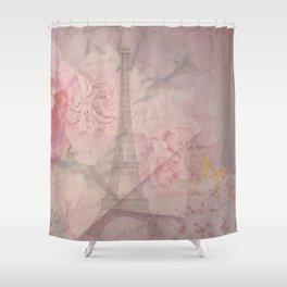 Parisian Romantic Collage Shower Curtain