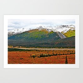 First Snowfall Art Print