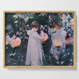 Carnation, Lily, Lily, Rose - John Singer Sargent Serving Tray