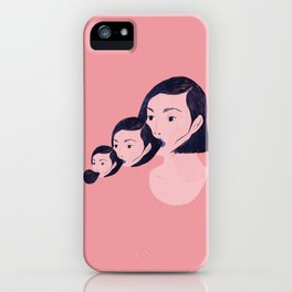 Blowing myself back and forth iPhone Case