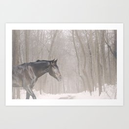 Bubba in the snow Art Print