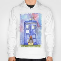 amy pond Hoodies featuring Come along, Pond by Kate Trozzi