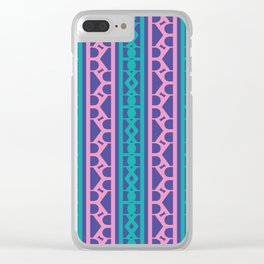 Seamless pink / The R Pattern 2 / 90s retro Clear iPhone Case