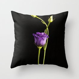 Lonely Lisianthus Throw Pillow