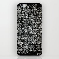 calligraphy iPhone & iPod Skins featuring calligraphy by nihal ekinci