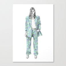 Balmain print suit Canvas Print