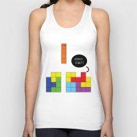 tetris Tank Tops featuring Tetris by Digital Sketch