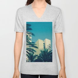 Art Deco Miami Beach #25 Unisex V-Neck