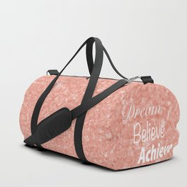 Dream Believe Achieve Rose Gold Duffle Bag