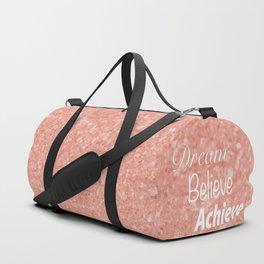 Dream Believe Achieve Rose Gold Duffle Bag