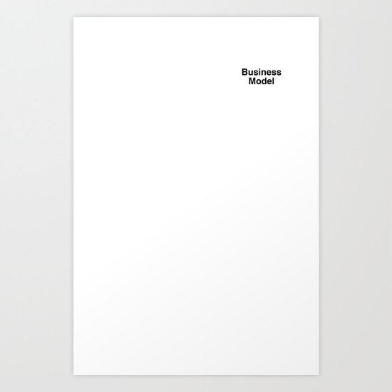 Business Model Art Print