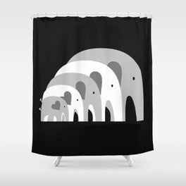 Nested Elephants Shower Curtain