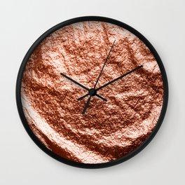 Rose gold draped foil Wall Clock