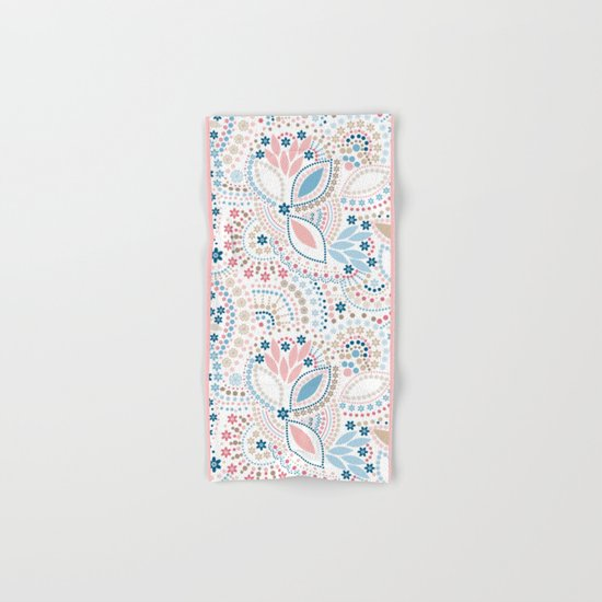 Colorful pattern of pastel light colors with beads Hand & Bath Towel