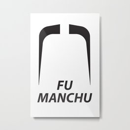 Fu Manchu Metal Print