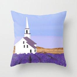 Lavender Churchyard Throw Pillow