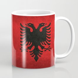 Albanian Flag with Grungy Texture Coffee Mug