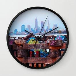 Cleveland Ohio Sunset Wall Clock