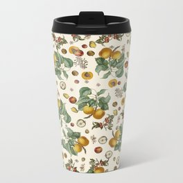 Apples Pears Peaches Metal Travel Mug