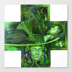 Religion green Canvas Print