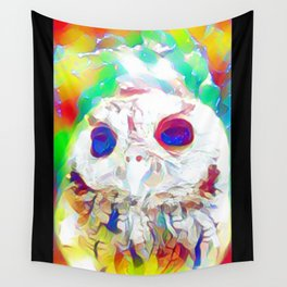 Rainbow Owl Wall Tapestry