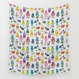 Robots in Space Wall Tapestry