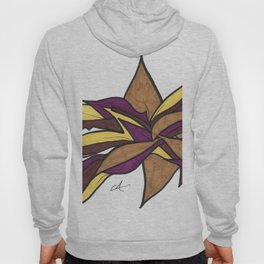 Autumn Reaching Abstract Street Art Ink Drawing Hoody