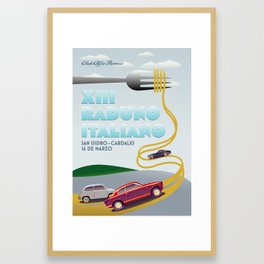 XIII Raduno Italiano Framed Art Print