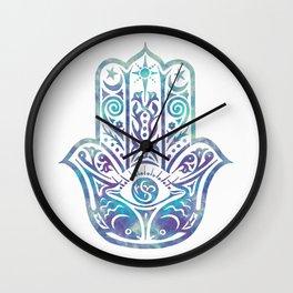 Colorful Fish Hamsa Hand Wall Clock