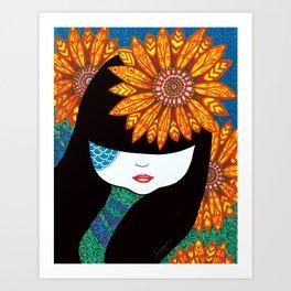 Sunny Girl Art Print