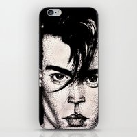 johnny depp iPhone & iPod Skins featuring Johnny Depp by Devon Opp
