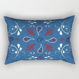 Whimsical Bandana in Blue Rectangular Pillow